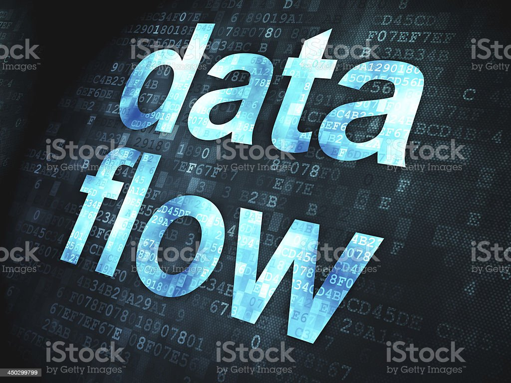 Information concept: Data Flow on digital background royalty-free stock photo