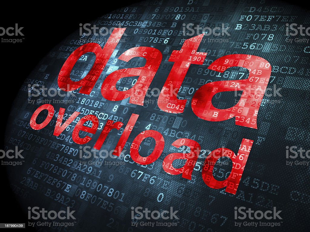 Information concept: data overload on digital background royalty-free stock photo