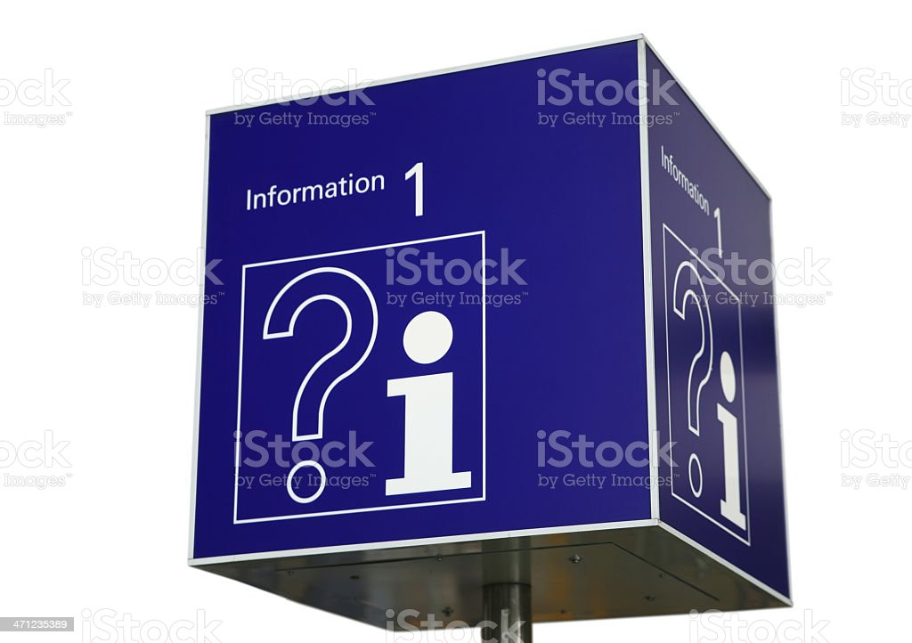 Information counter sign isolated on white royalty-free stock photo