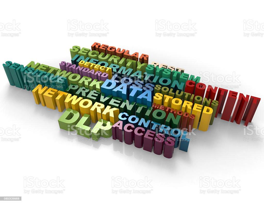 Information, Data, Solutions crossword stock photo