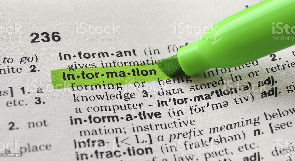 Information Defined royalty-free stock photo