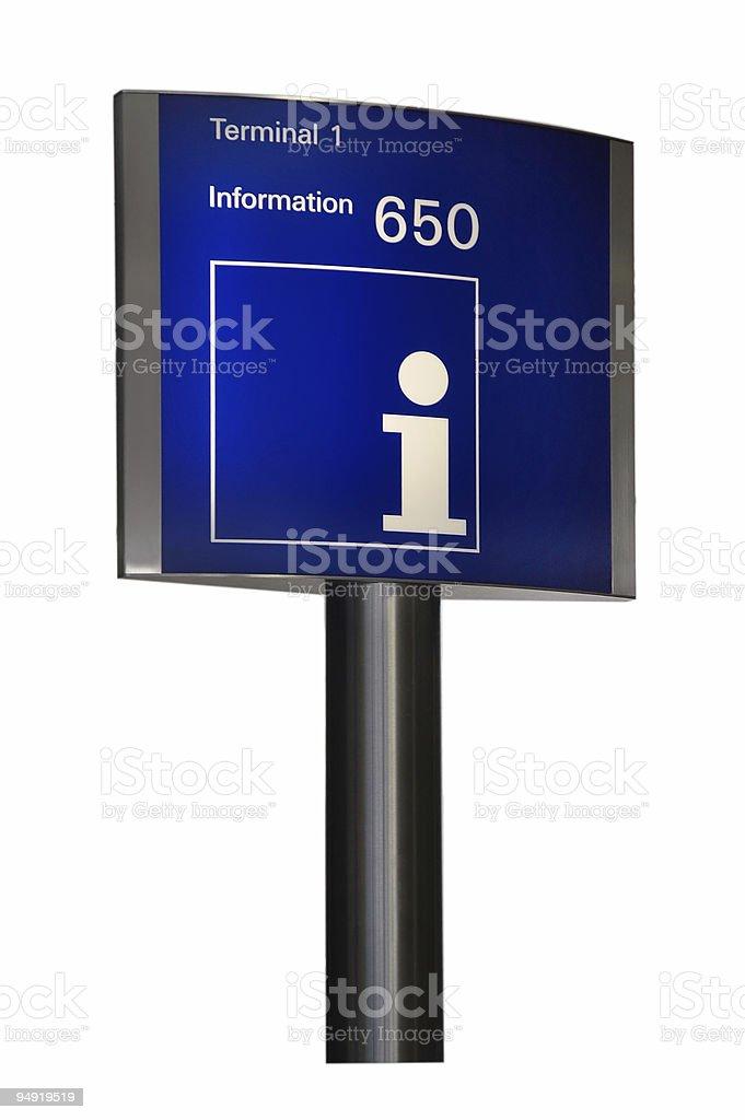 Information desk (blue) royalty-free stock photo