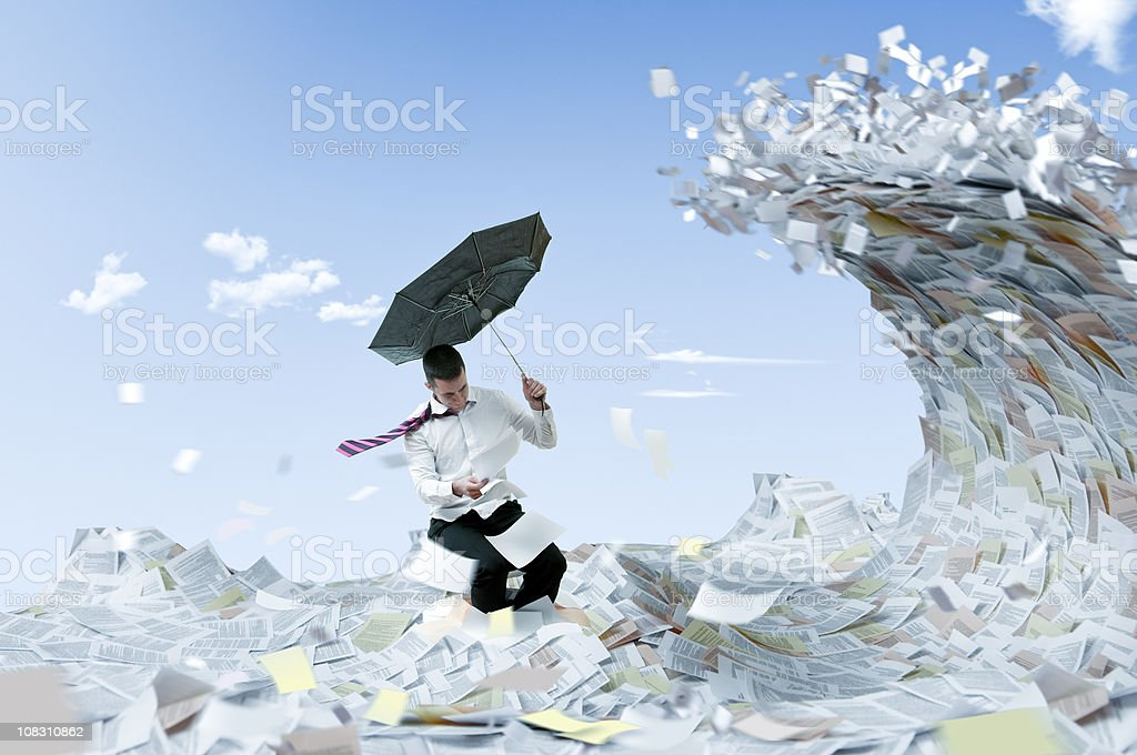 Information flood royalty-free stock photo