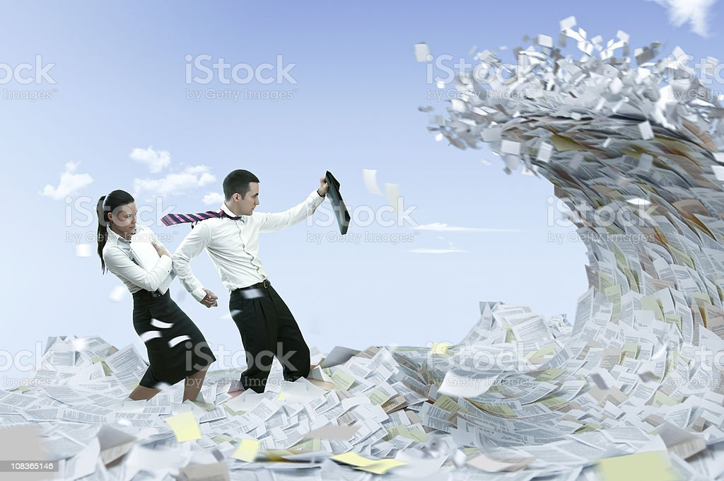 Information flood royalty-free stock photo