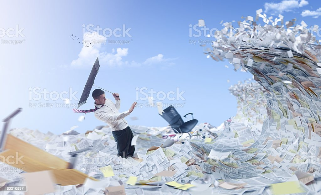Information flood stock photo