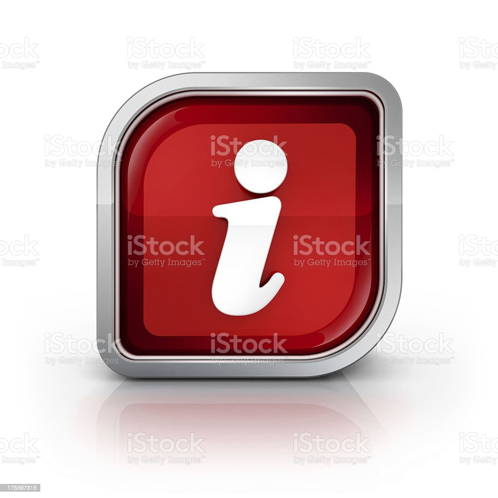 information glossy icon stock photo