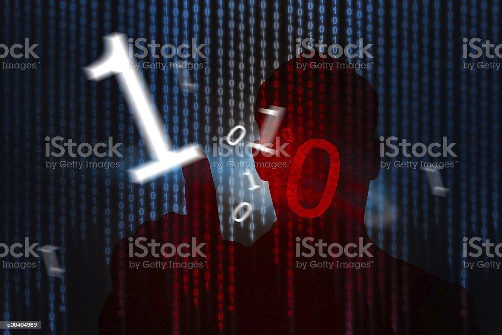Information hacking stock photo