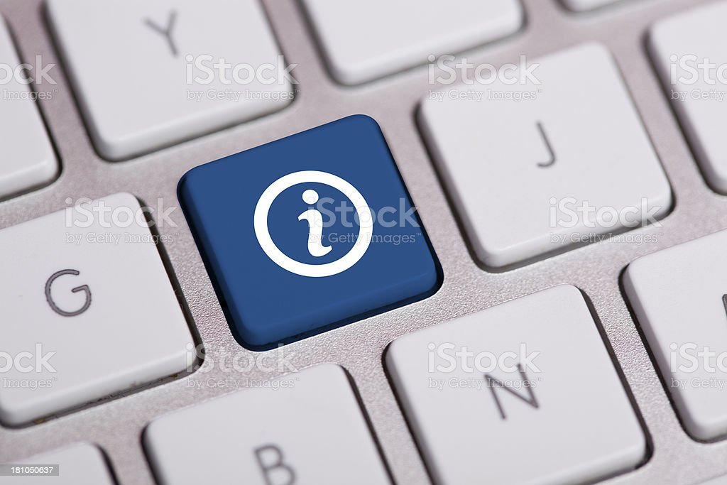 Information Icon on Keyboard stock photo