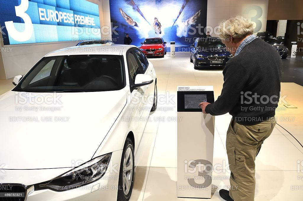 BMW information royalty-free stock photo