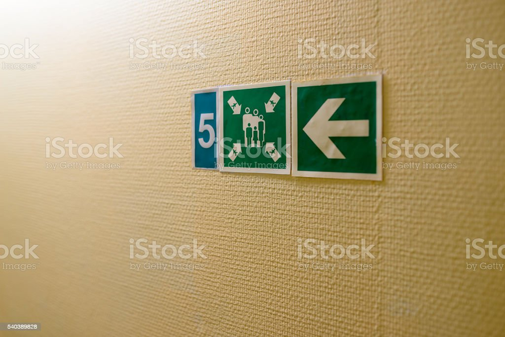 information plate of assembly station stock photo