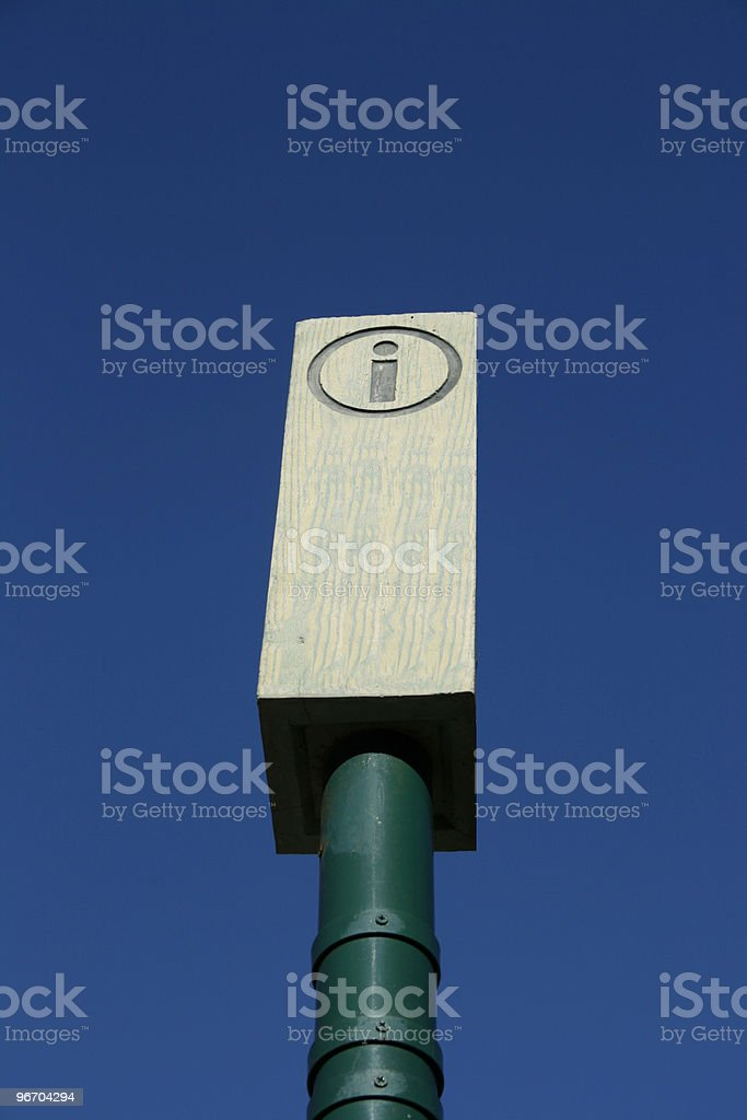 Information Pole sign royalty-free stock photo