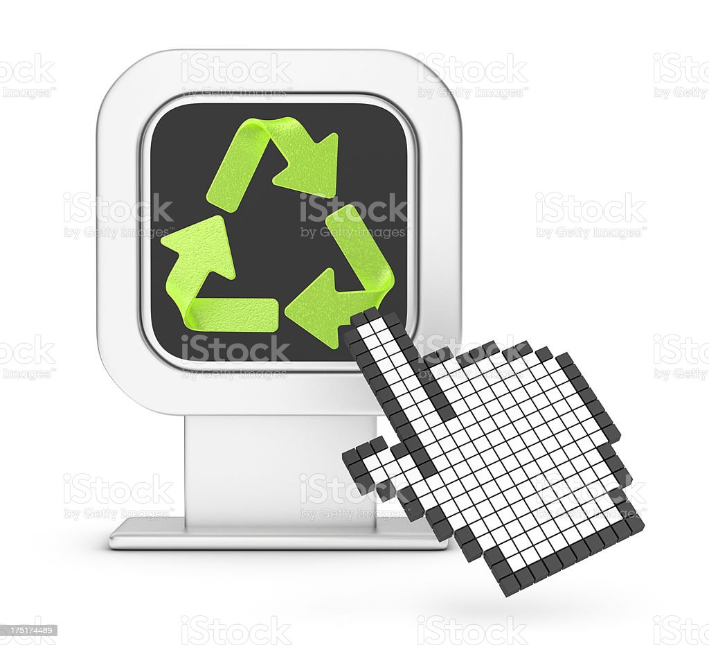 Information Sign and Recycling Symbol royalty-free stock photo