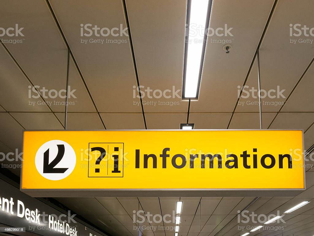 Information sign at Schiphol Amsterdam Airport, Holland stock photo
