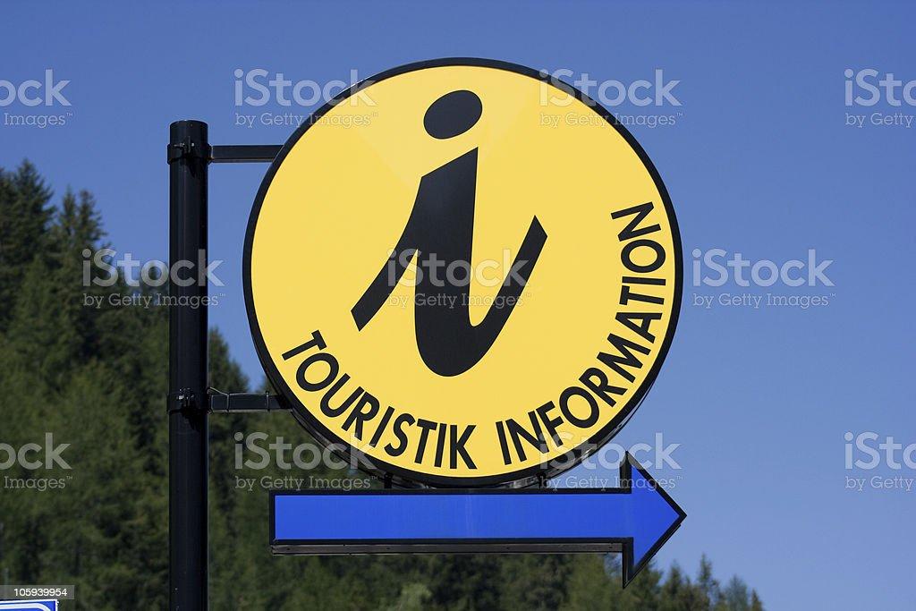 Information Sign Closeup, Dolomiti - Italian Alps royalty-free stock photo