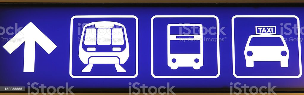 Information Sign in Airport royalty-free stock photo