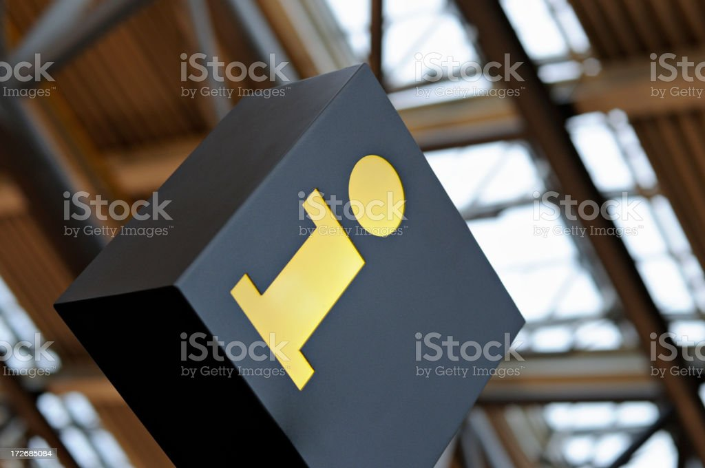 information sign in an airport royalty-free stock photo
