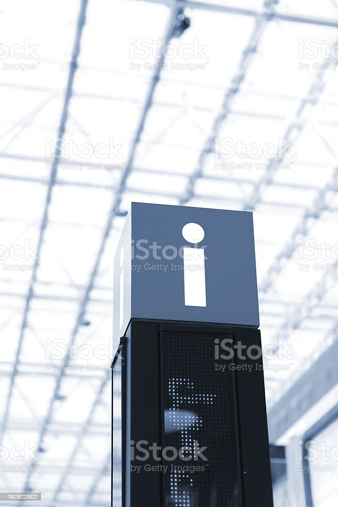 Information sign in mall stock photo