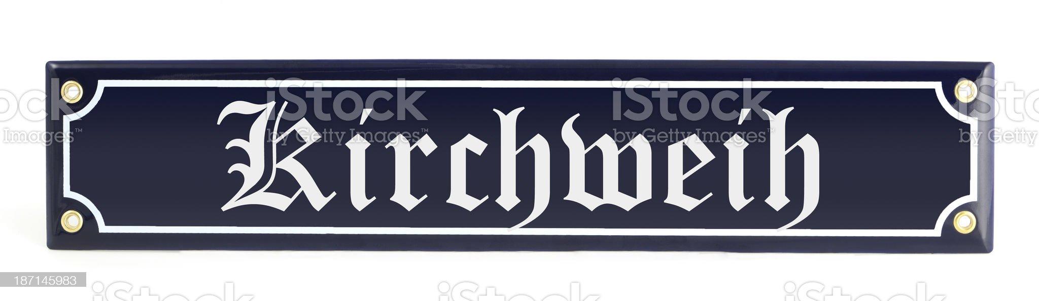 Information sign Kirchweih royalty-free stock photo