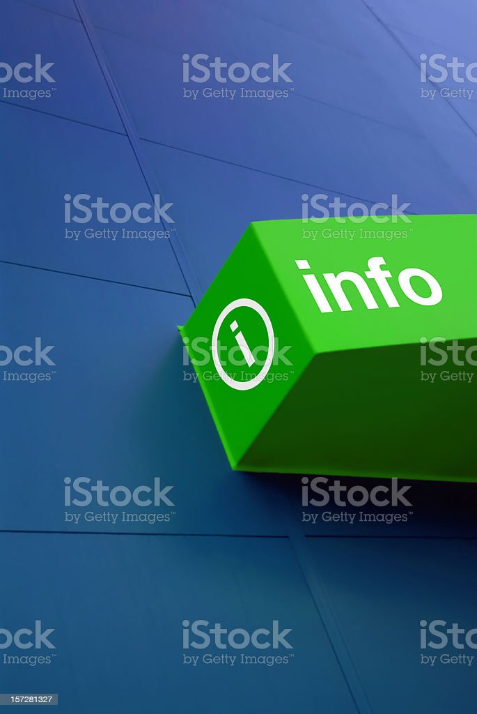 information sign royalty-free stock photo