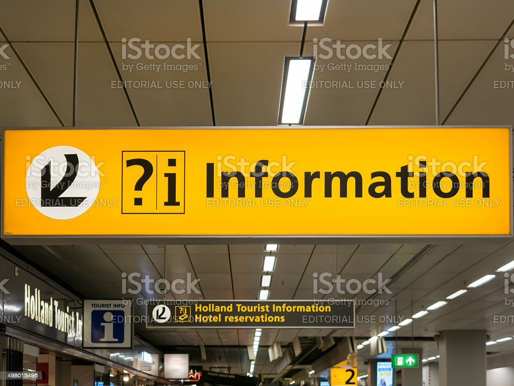 Information signs at Schiphol Amsterdam Airport, Holland stock photo