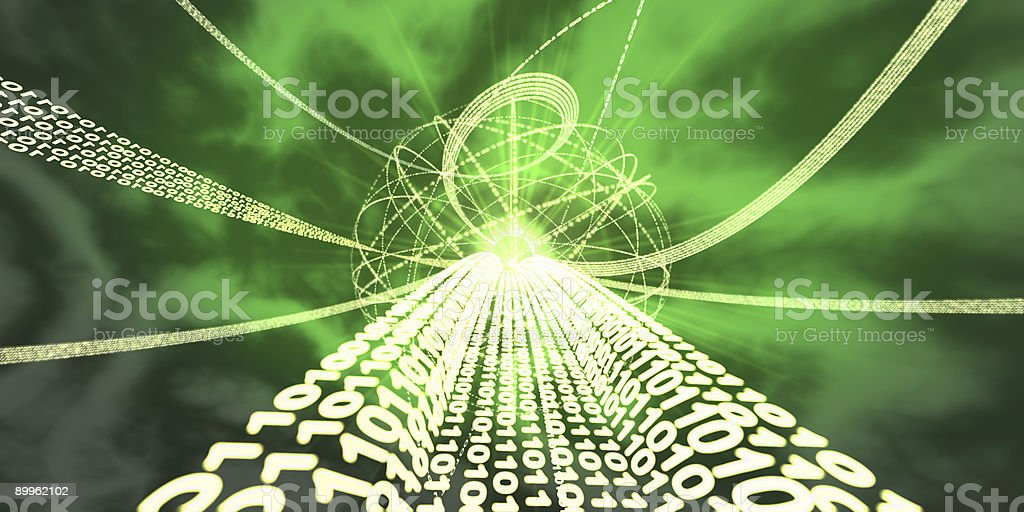 Information Super-highway stock photo