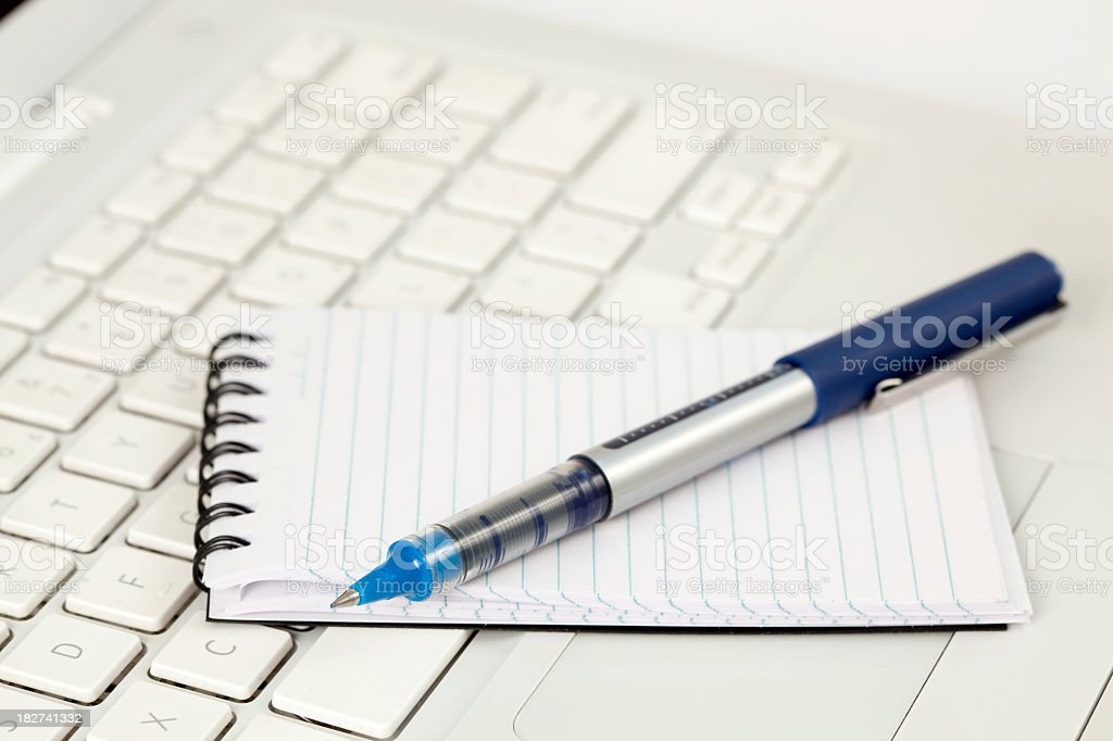 Information taken from a laptop royalty-free stock photo