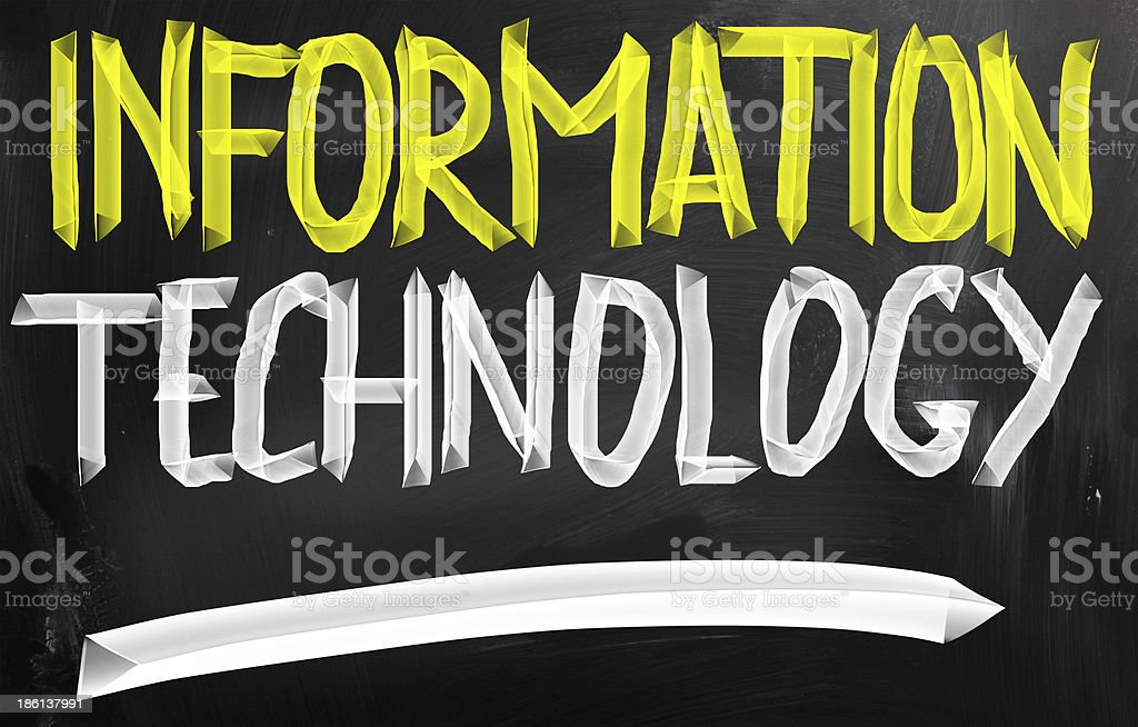 information technology concept stock photo