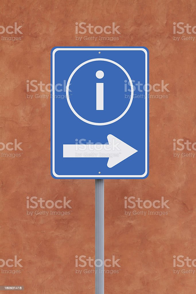 Information This Way royalty-free stock photo