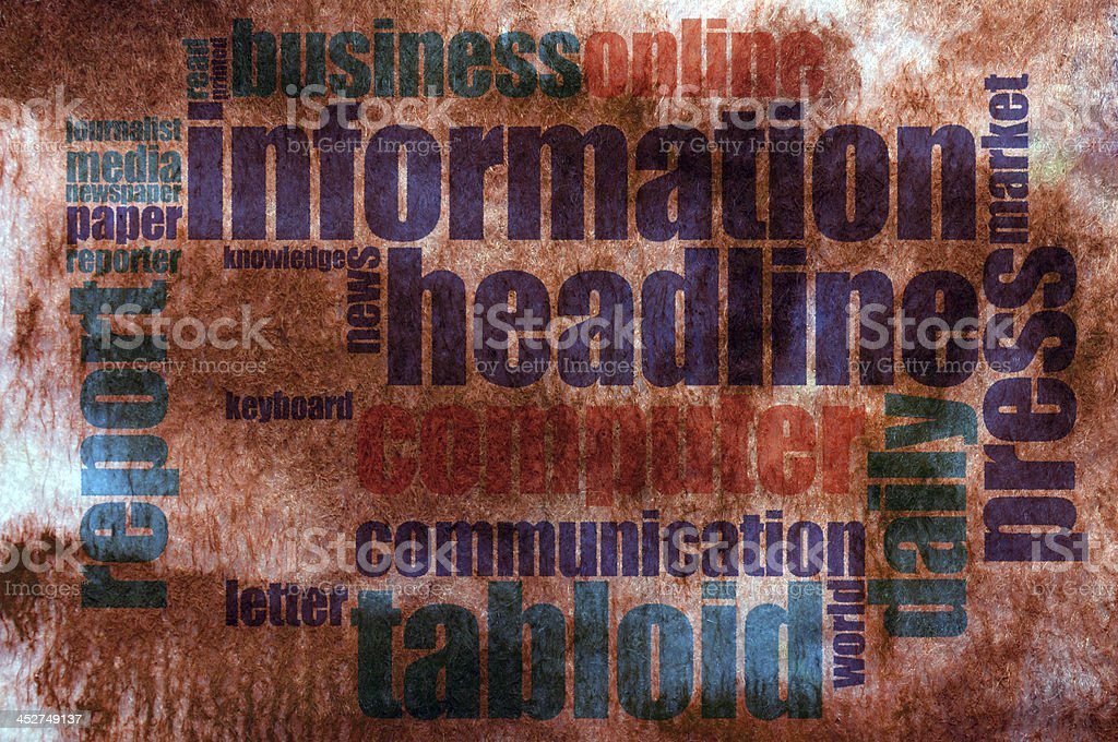 Information word cloud royalty-free stock photo