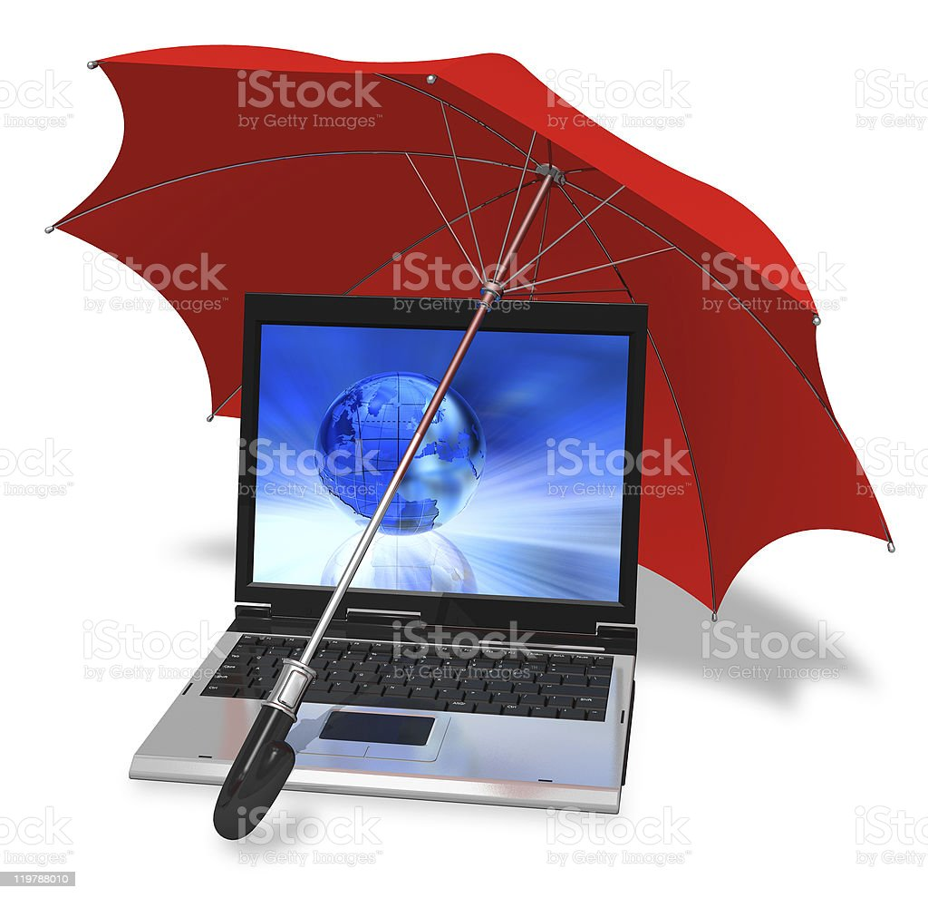 Informational security concept stock photo