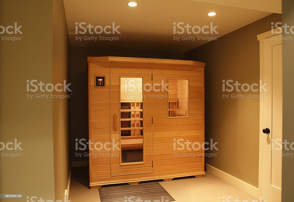 Infra Red Sauna Inside Home stock photo