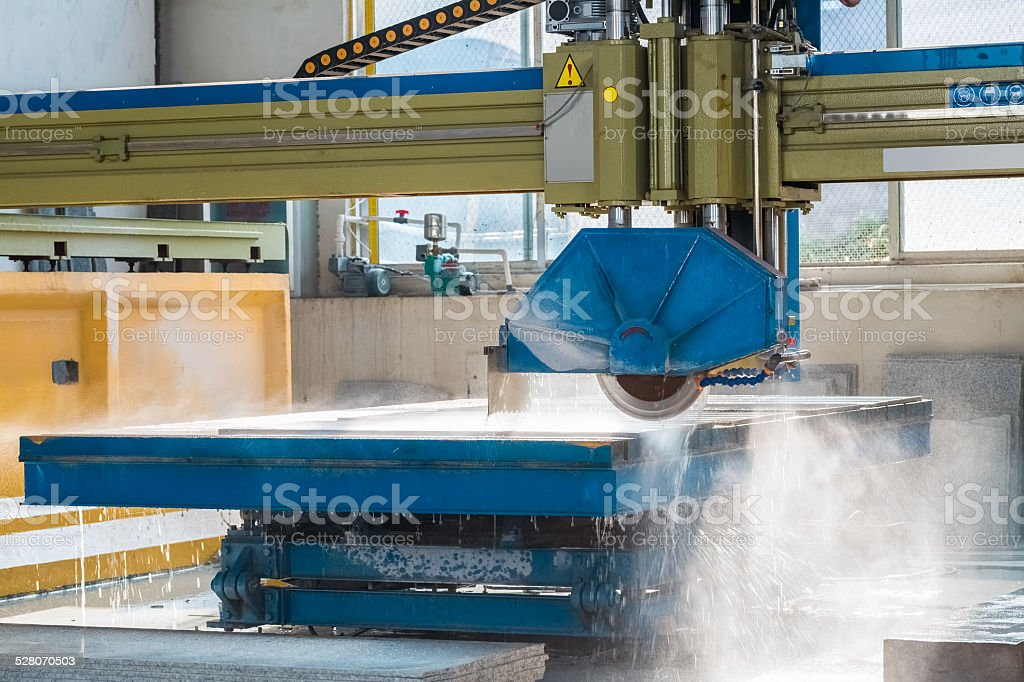 infrared guide pillar bridge cutting machine stock photo