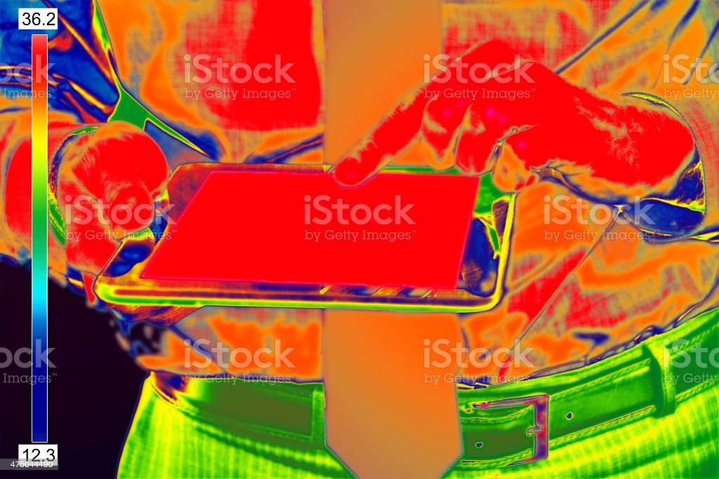 Infrared image of Businessman stock photo