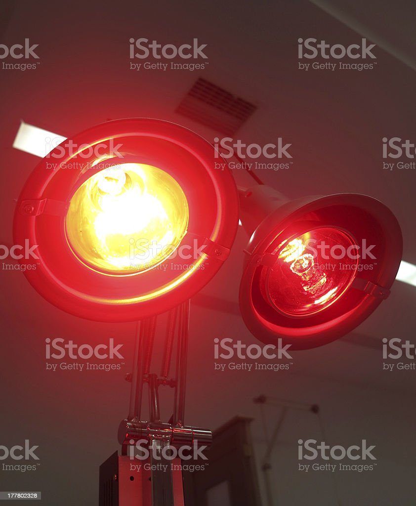 infrared lamp in hospital royalty-free stock photo