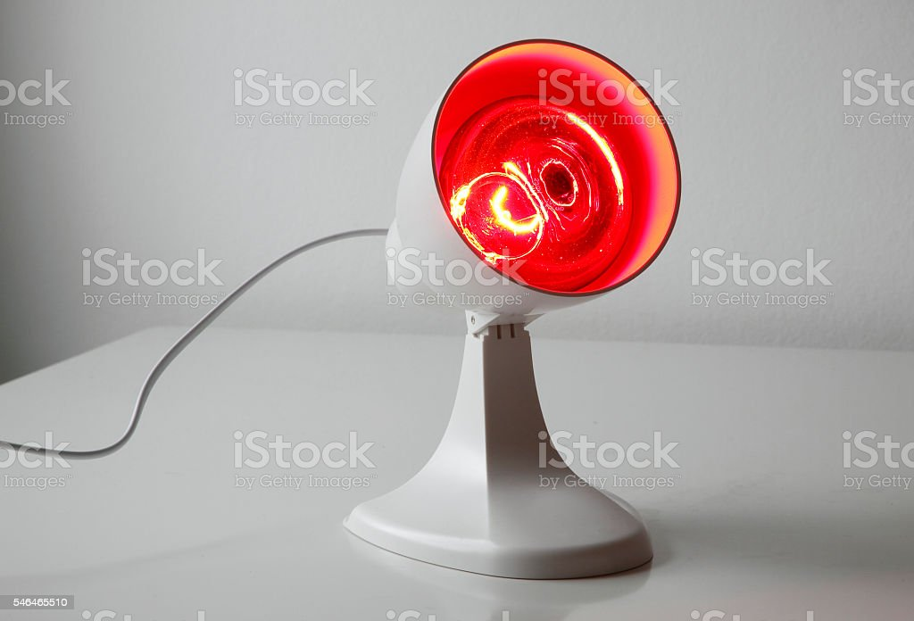 Infrared lamp stock photo