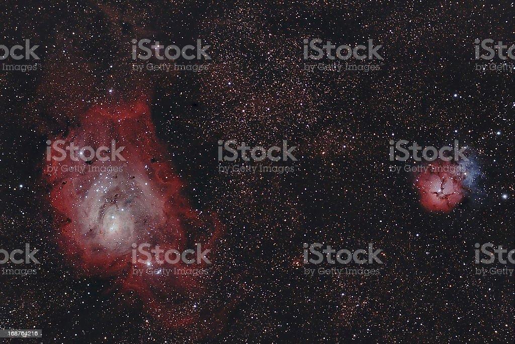 infrared nebulaes stock photo