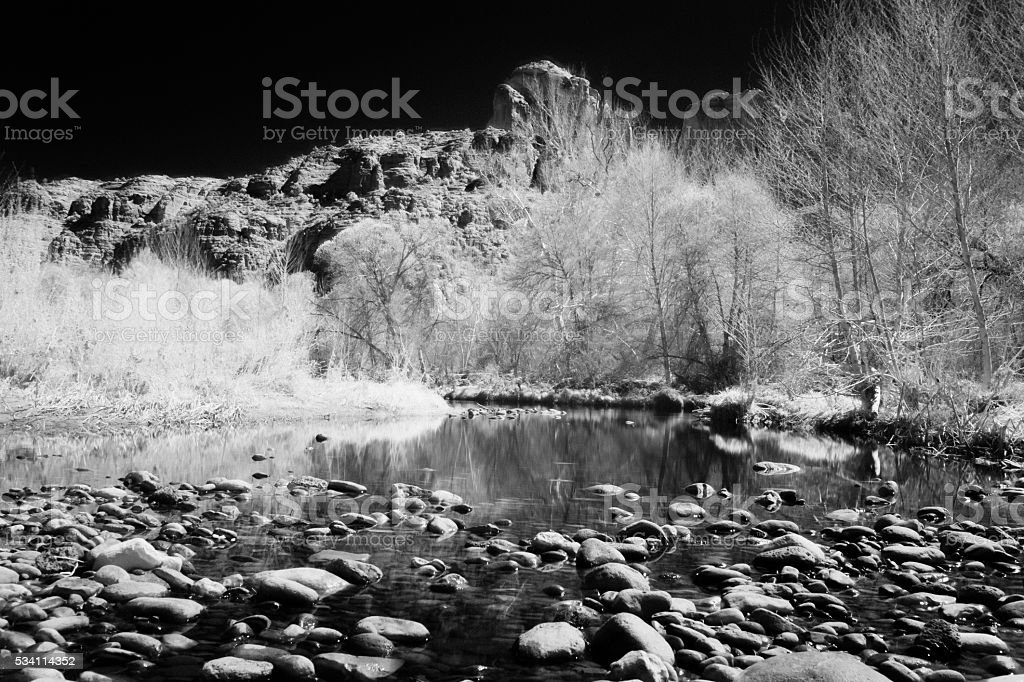 Infrared River stock photo