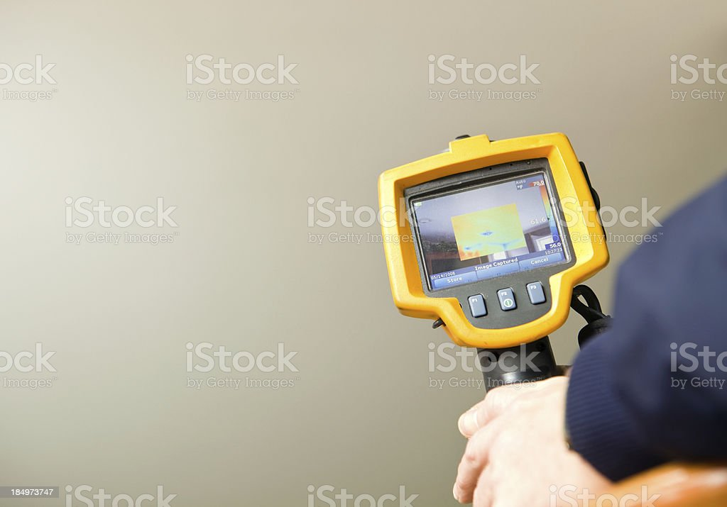 Infrared Thermal Imaging Camera for Home Energy Audit stock photo