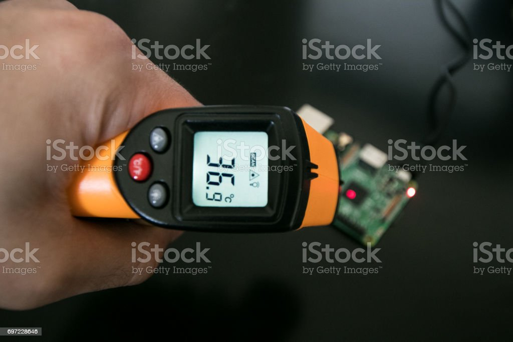 Infrared thermometer stock photo