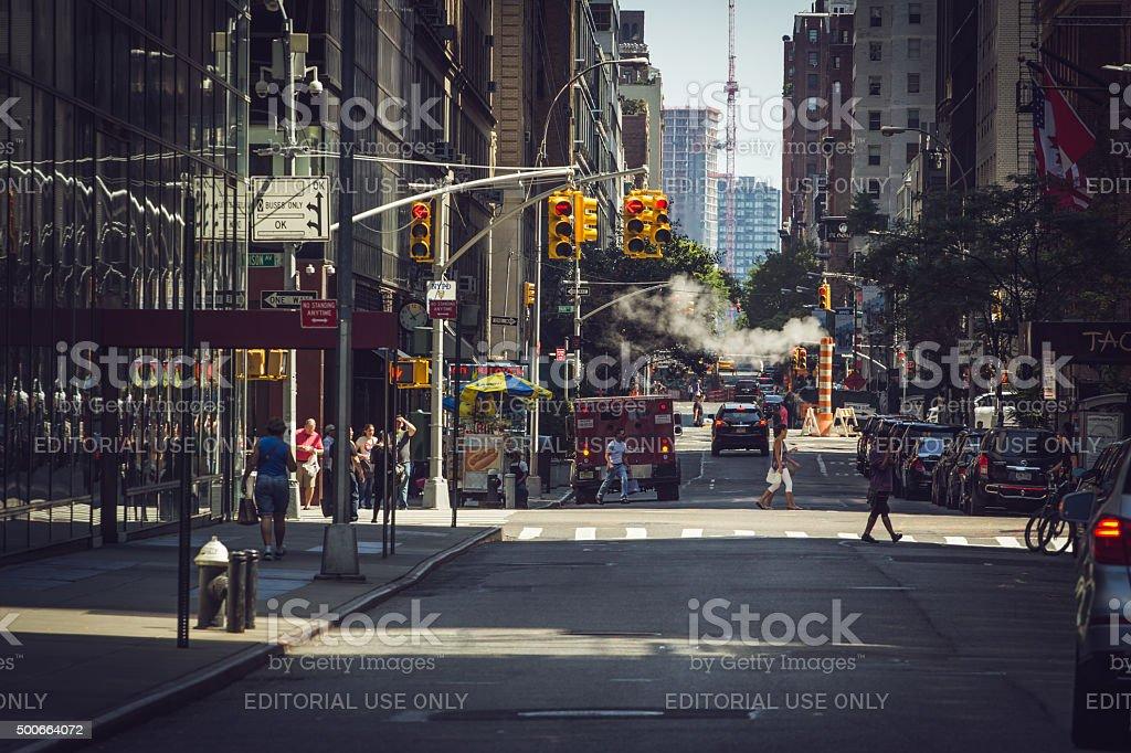 infrastructure rehabilitation Manhattan stock photo