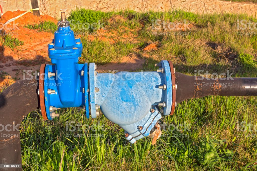 Infrastructure Supply water in Israel. stock photo