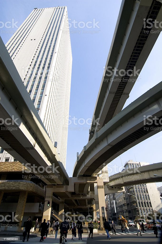 Infrastructure - Tokyo royalty-free stock photo