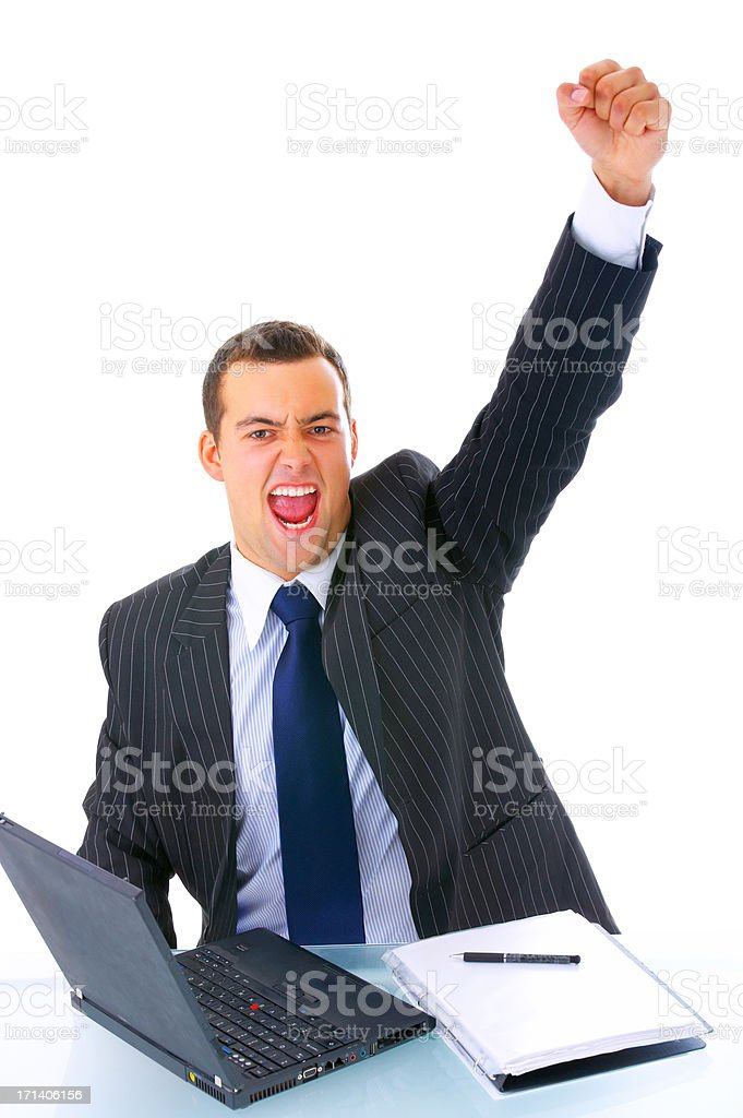 Infuriated businessman stock photo