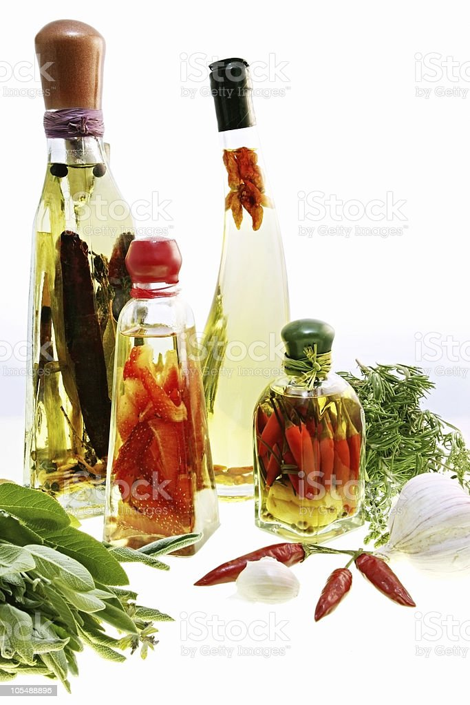 Infused Oils and Preserves royalty-free stock photo