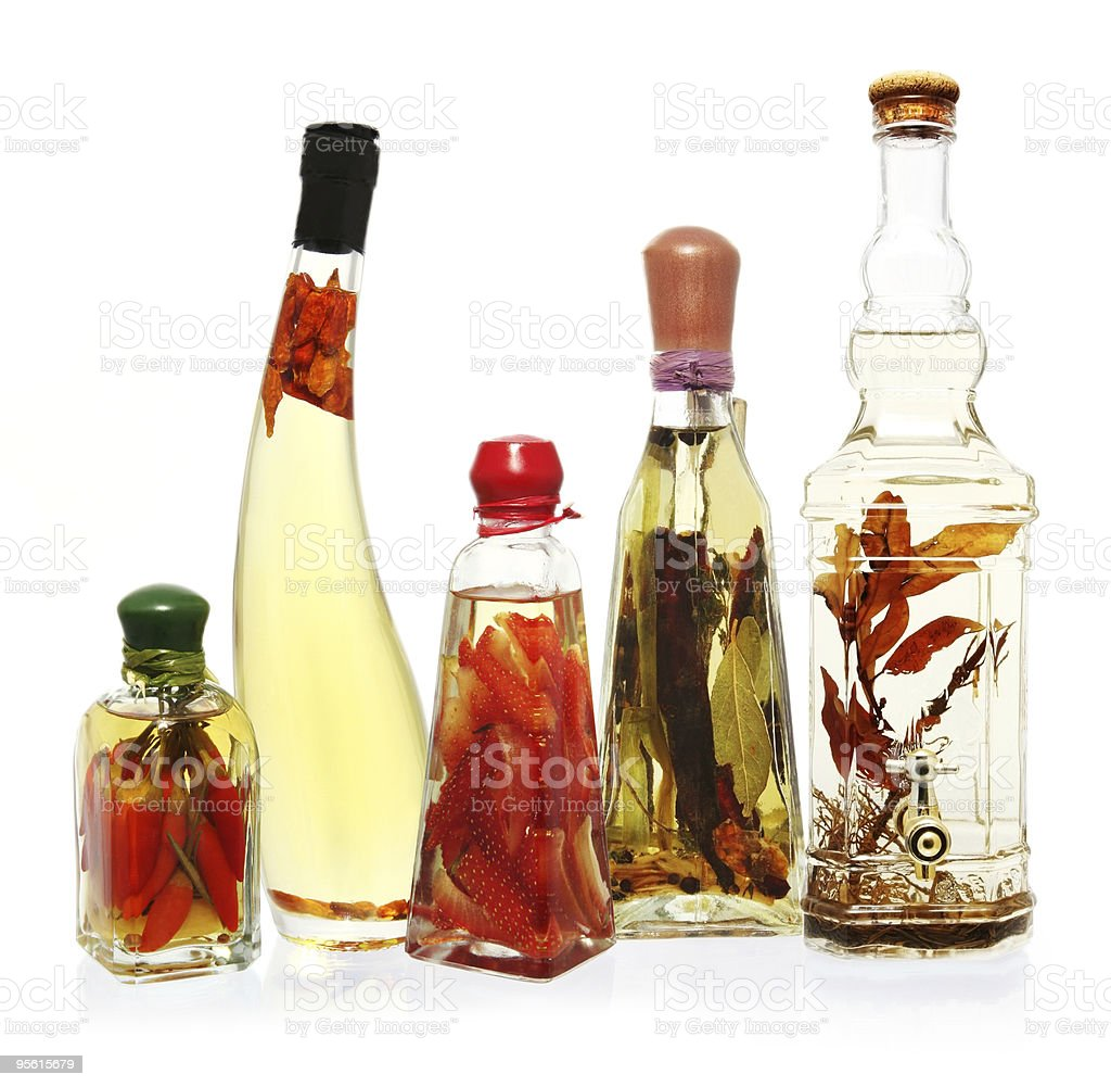 Infused Oils and Vinegars stock photo
