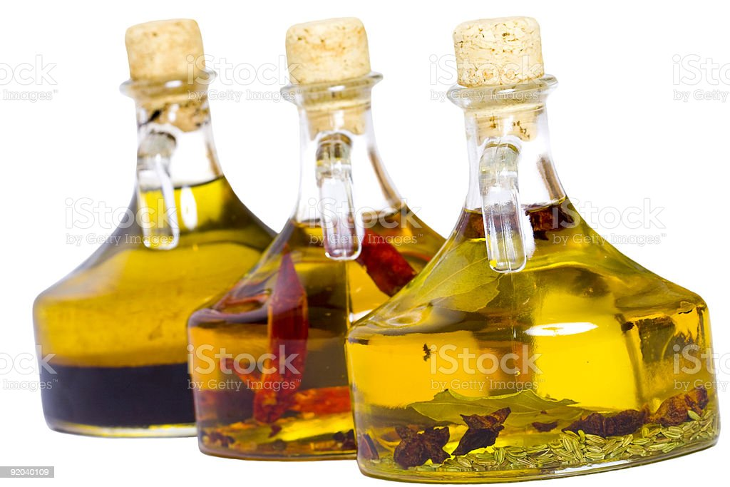 Infused oils royalty-free stock photo