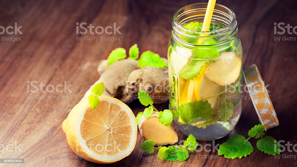 Infused Water for Detoxing your Body stock photo