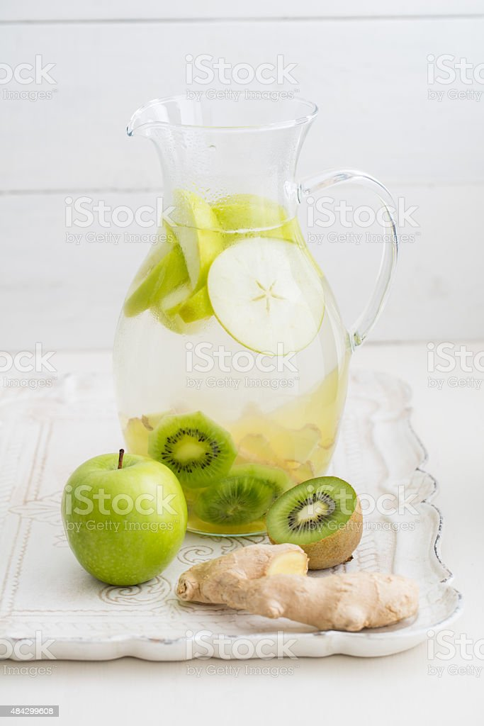 Infused water stock photo
