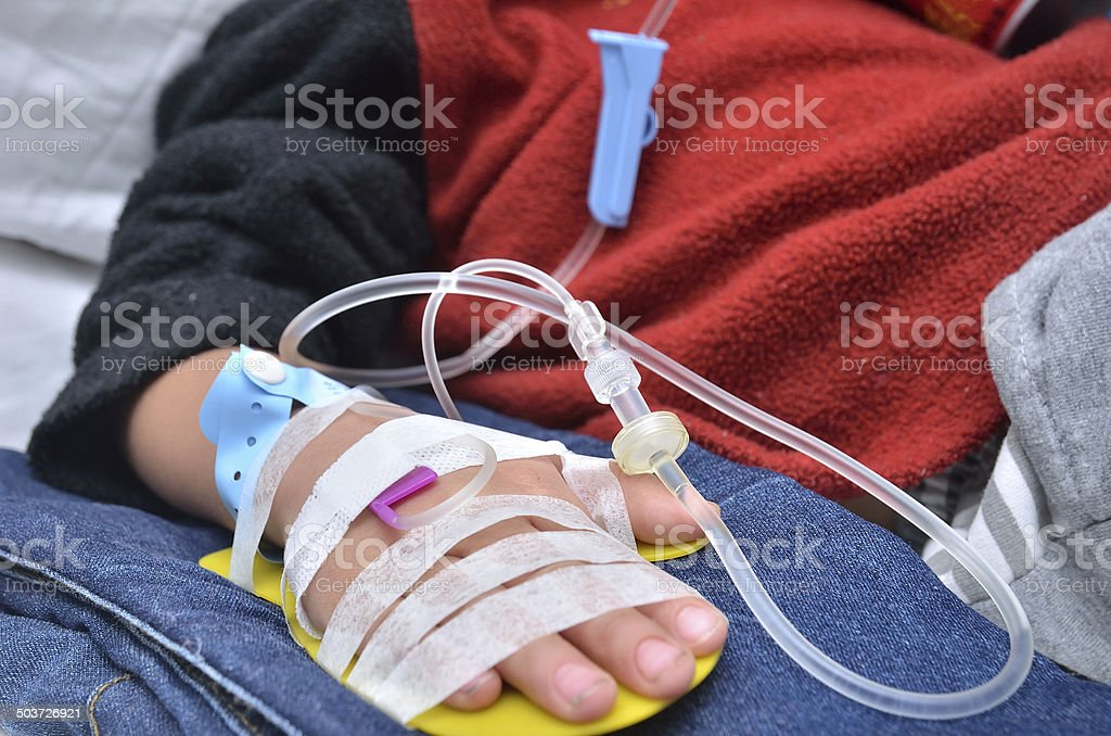 Infusion injection stock photo