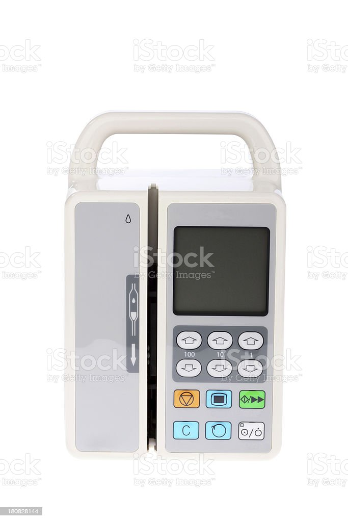 Infusion Pump Intravenous IV Drip Medical Equipment stock photo